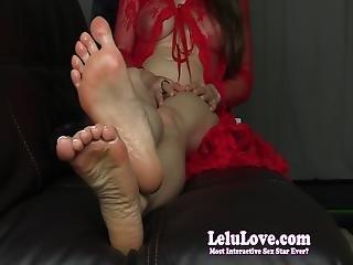 Lelu Love-fresh Pedicure Feet Soles Joi Closeups
