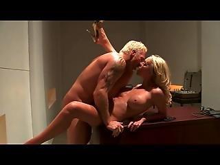 British Blonde Slut Paige Fucked On The Desk