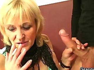 Old Prostitute Sucks And Rides His Cock