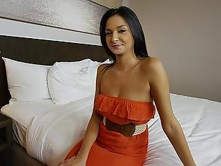 Natural Titted Teen Sucking And Fucking On Camera