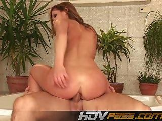 Horny Brunette Jenny Baby Fuck Deep Anal And Get A Big Cumshot