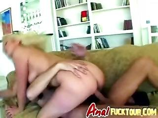 Blonde With Pierced Tongue Sucks Two Big Dongs And Gets Double Penetrated