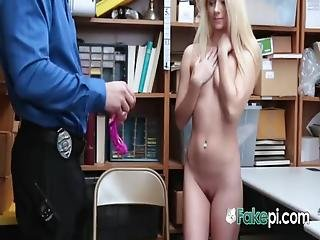 Hot Riley Start Refuses To Let This Horny Officer To Search Her