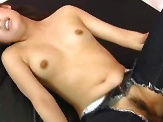 Asiat, Babe, Crotchless, Kneppe, Japansk, Jeans, Teen