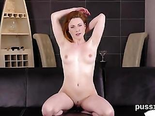 European Cutie Enjoys Bizzare Sex Toy And Thursts Fat Vibro In Twat