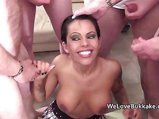Scarlett March Taking Multiple Facial Cumshots And Getting Drenched