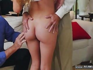 Old Man Cums Inside Pussy Molly Earns Her Keep