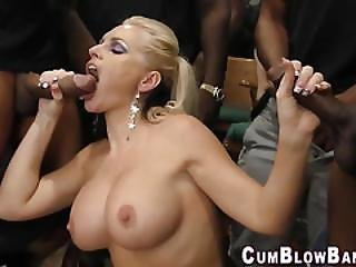 Blow Banging Slut Bukkake