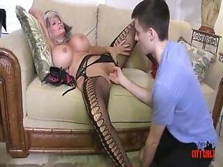 Cougar smoking and fucking