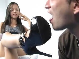 Mistress Tiffany Shoe Licking 1