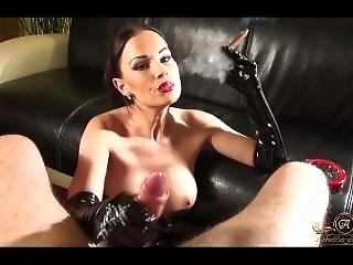 Ac- Handjob And Smoking Cigar In Gloves
