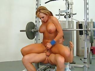 Nikki Sexx Busty Blonde Gym Fuck