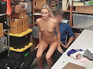 Blonde, Cowgirl, Bite, Office, Au Volant, Brusque, Maigre, Ados, Voleuse