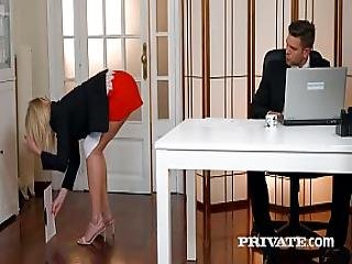 Private.com - Aria Logan Sucks Her Boss S Hard Cock