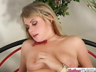 Hot Blonde Milf Rides Stepson Big Cock In Reverse Cowgirl And Cowgirl Position