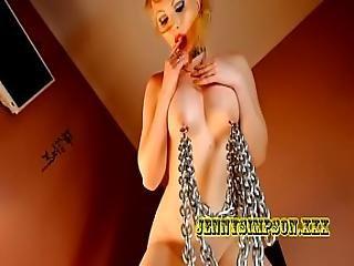 bdsm, blondi, sidonta, tissit, lävistetty, lutka, vaimo