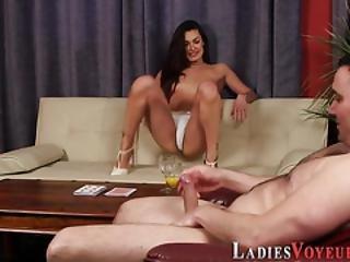 Domina Shows Tiny Tits