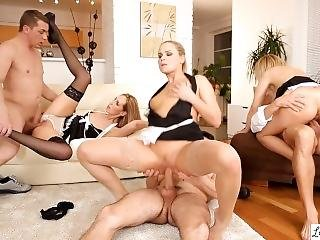 Orgy With Three Fantastic Babes