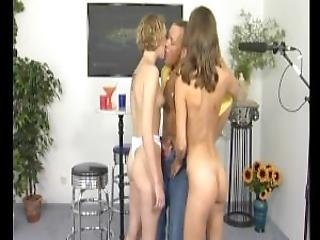 Lucky Guy Gets Two Euro Girls Julia Reaves