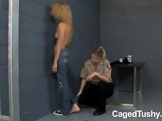 Lesbian Cop Takes Arrested Girls Mix Matched Socks Off And Checks Her Toes