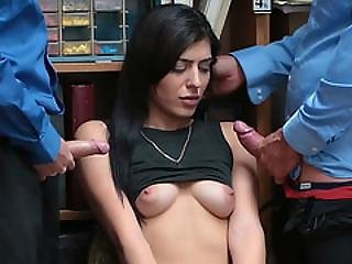 Sexy Thief Audrey Royal Hardcore Threesome Fuck
