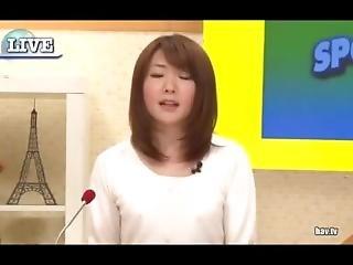 Japanese Newsreader Peeing Herself
