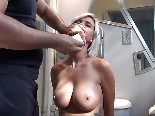 babe, smuk, stort bryst, biknini, blond, bondage