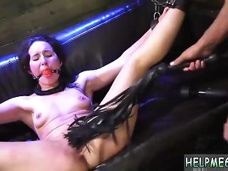 Bdsm Helpless Teen Evelyn Has Been Walking For Awhile.