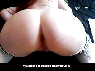 Anal Redhead On Spankychat - Cucumber Ass Fisting