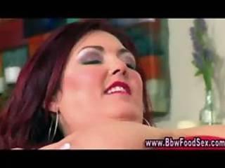Bbw, Bigtit, χοντρή, φετίχ, φαγητό, γαμήσι, Plumper