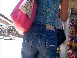 Butt, Buttcam, Jeans, Voyeur