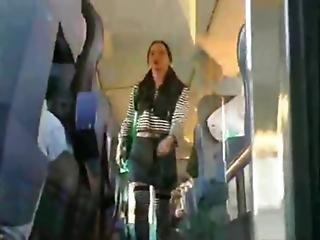 Sexy Girl Puts A Diaper In A Train