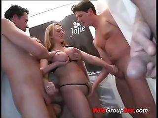 Busty Teen In Her First Anal Gangbang