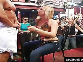 When These Ladies Hire A Male Stripper, They Make Sure To Get Full