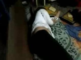 Desi Teen Sister Schoolgirl Fathima Sleeping Caught By Brother On Cam- Very Hot