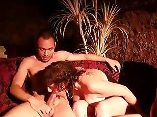 Threesome With French Mature Cathy