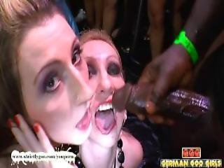 Babes Fucked Side By Side Sharing Cum German Goo Girls
