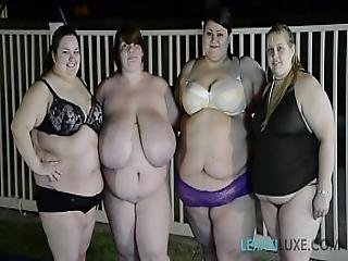 4 Ssbbws Get Together For Lesbian Sex