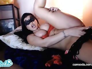 Romi Rain Big Ass Big Tits Brunette Masturbating With Multiple Dildos.