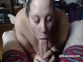 My Wife Struggling To Suck My Big Dick