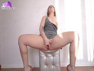 Charming Girl Sensual Masturbate During Strip Dance Lesson