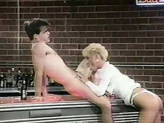 80s Clothed Sex Session In A Bar