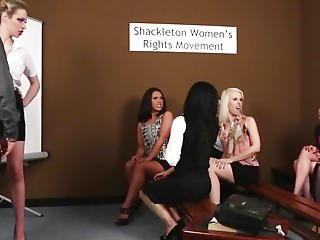 Cfnm Femdoms Humiliating Stroking Stud