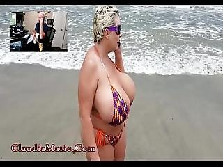 anál, zadek, pláž, velké dudy, prostitutka, sex, děvka