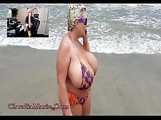 anal, røv, strand, stort bryst, prostitueret, sex, ludder