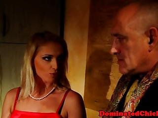 Gagging Submissive Gets Banged Anally By Maledom In Bdsm
