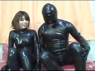 amateur, brunette, fetish, japaans, rubber