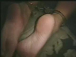 Handcuff Foot Tickling