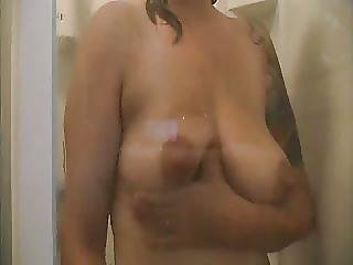 Milky Beth Lactating In Shower