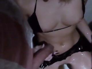 Golden Shower - Two Guys Wash Her With Piss